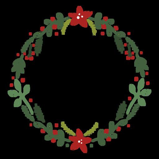 Frondosa corona de navidad Transparent PNG
