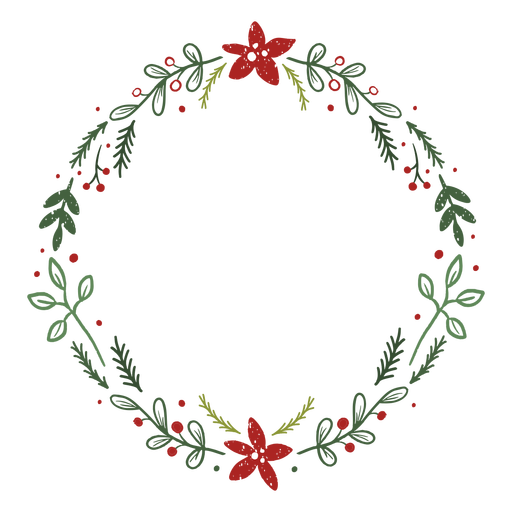 Leafy christmas wreath