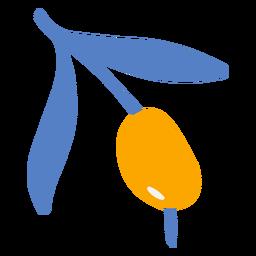 Aceitunas de hoja doodle diseño de naturaleza