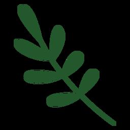 Leafy plant flat