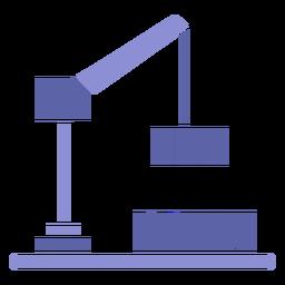 Diseño de silueta de grúa de elevación