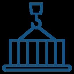 Icono de máquina de elevación