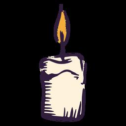 Aligere el diseño de la ilustración de la vela
