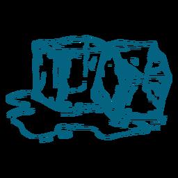 Derretimento de cubos de gelo