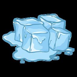 Diseño plano de fusión de hielo