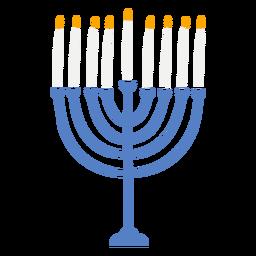 Menorah hanukkah doodle design