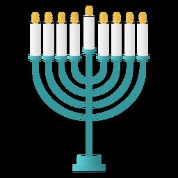 Diseño plano de menorá de hanukkah
