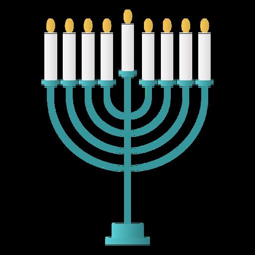 Diseño plano de menorá de hanukkah Transparent PNG