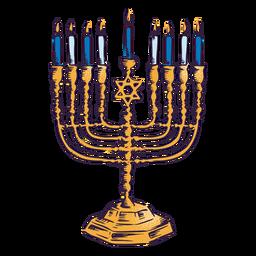 Diseño de ilustración de menorah hanukkah