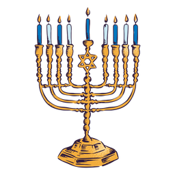Menorah hanukkah illustration design
