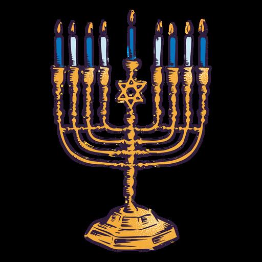 Desenho de ilustração de Menorah hanukkah