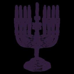 Desenho de traço Menorah hanukkah