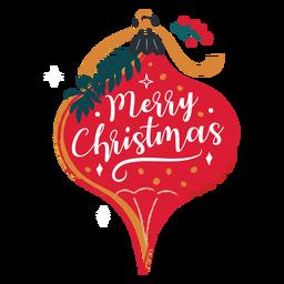 Ilustração de enfeite de feliz Natal