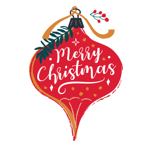 Ilustração de enfeite de feliz Natal Transparent PNG