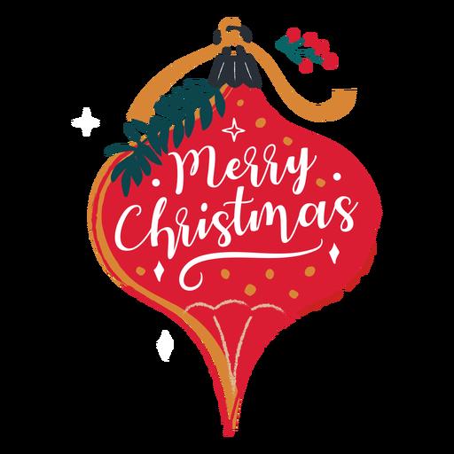 Merry christmas ornament illustration