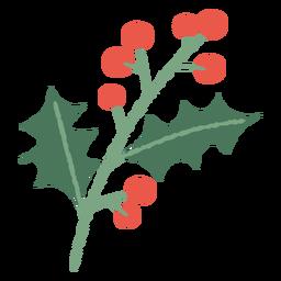 Ilustración de Navidad de rama de muérdago