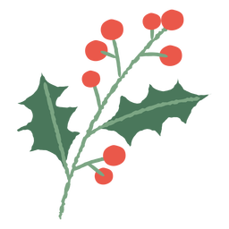 Mistletoe branch christmas illustration