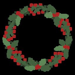 Design de guirlanda de Natal de visco