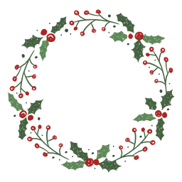 Mistletoe christmas wreath design
