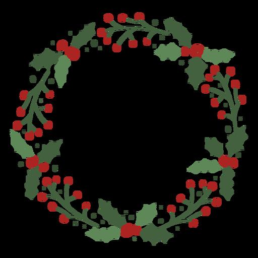 Mistletoe christmas wreath design