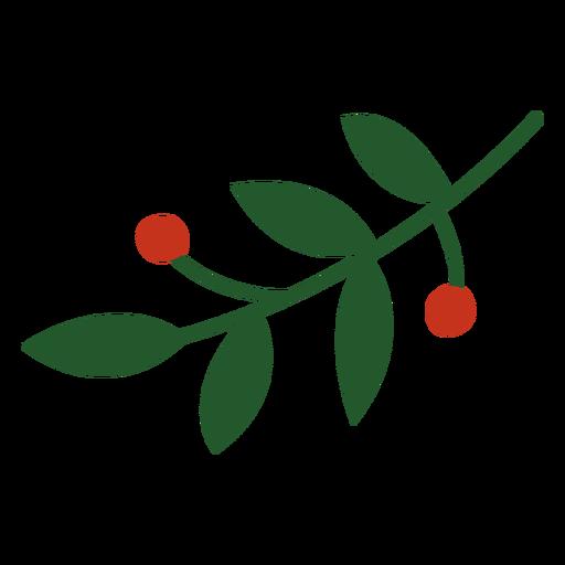 Mistletoe decoration flat