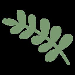 Mistletoe festive flat design