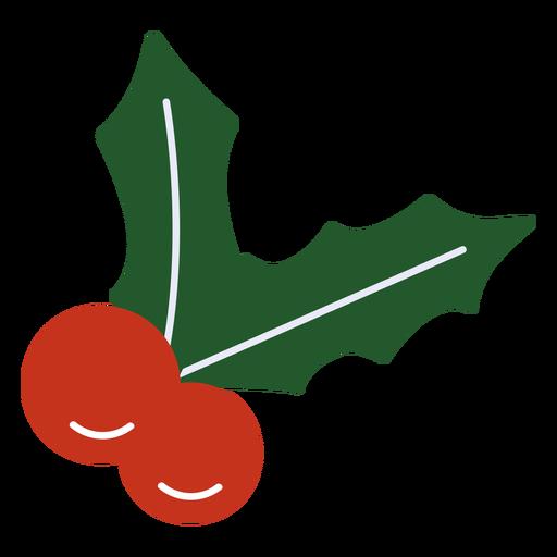 Mistletoe traditional flat design