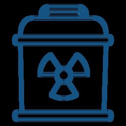 Indústria de sinal de perigo de contêiner nuclear