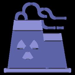 Silhueta de usina nuclear