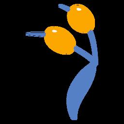 Aceitunas doodle diseño de naturaleza