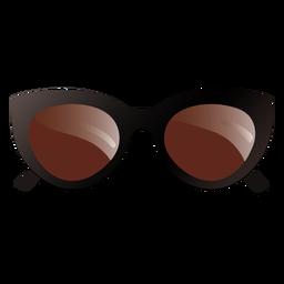 Gafas de sol ovales extragrandes de diseño brillante