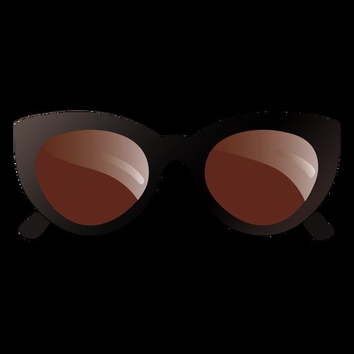 Oval oversized sunglasses glossy design