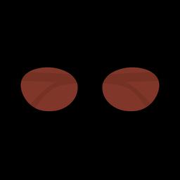 Gafas de sol ovales de diseño plano