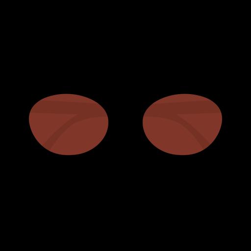 Oval sunglasses flat design