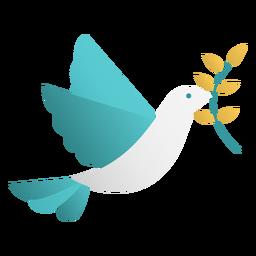Diseño de doodle de paloma de la paz