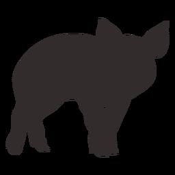 Desenho de silhueta de porco