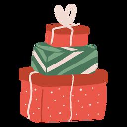 Ilustración de la pila de regalos