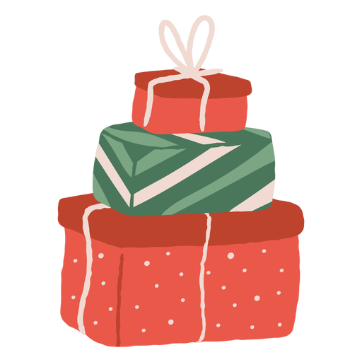 Pile of gifts illustration