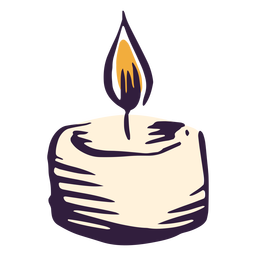 Pillar candle illustration