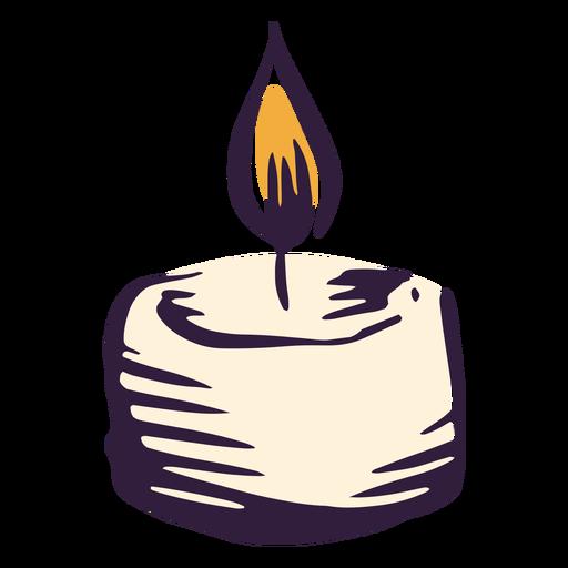 Pillar candle illustration