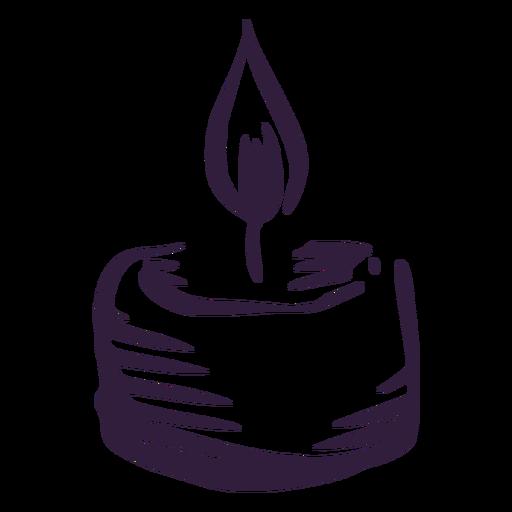 Trazo de vela de pilar