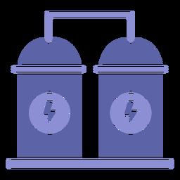 Silueta de maquinaria de contenedor de energía