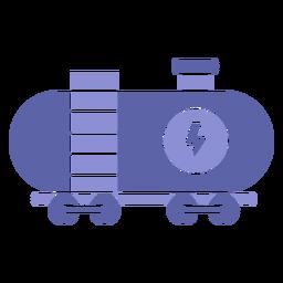 Silhueta de transporte de carga de energia