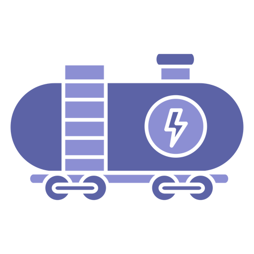 Silueta de transporte de carga de potencia Transparent PNG