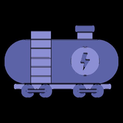 Silueta de transporte de carga de potencia