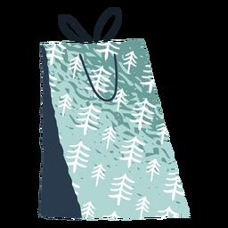 Ilustração de saco de flocos de neve