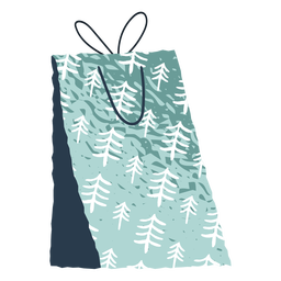 Present bag snowflakes illustration