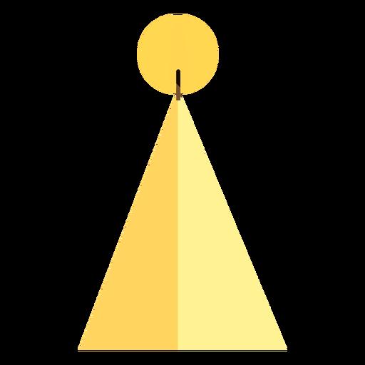 Forma de vela piramidal plana