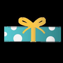 Caja de regalo rectangular diseño plano.