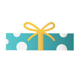 Rectangular gift box flat design